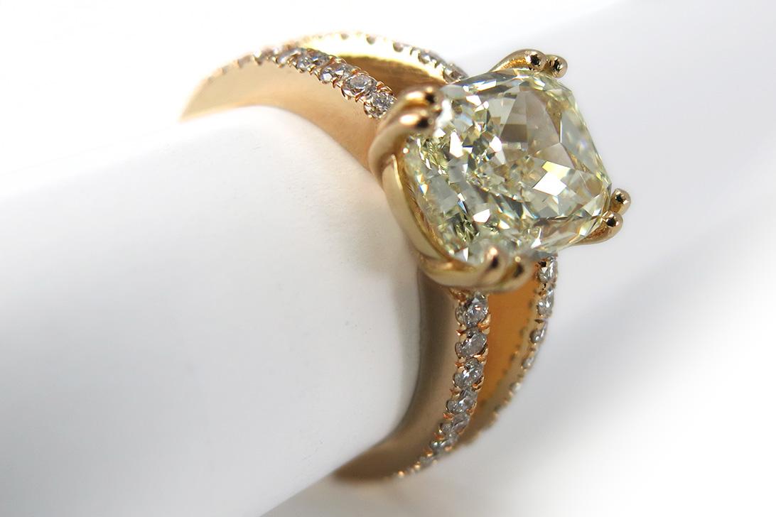 brillantring 1 diamant 4 02 karat 36 brillanten 0 5 ct gelbgold brors 10497 ebay. Black Bedroom Furniture Sets. Home Design Ideas